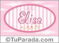 Elisa - Nombre decorativo
