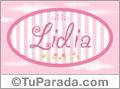 Lidia - Nombre decorativo