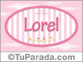 Lorel, nombre para niñas