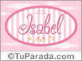 Nombre Isabel de bebé, para imprimir