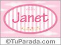 Nombre Janet de bebé, para imprimir