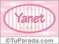 Nombre Yanet de bebé, para imprimir