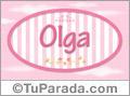 Nombre Olga de bebé, para imprimir