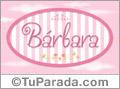 Nombre Bárbara de bebé, para imprimir