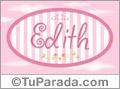 Nombre Edith de bebé, para imprimir