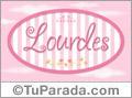 Nombre Lourdes de bebé, para imprimir
