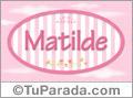 Nombre Matilde de bebé, para imprimir