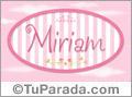 Nombre Miriam de bebé, para imprimir