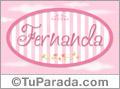 Nombre Fernanda de bebé, para imprimir