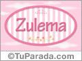 Nombre Zulema de bebé, para imprimir