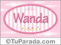 Wanda, nombre para niñas
