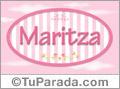 Nombre Maritza de bebé, para imprimir