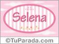 Nombre Selena de bebé, para imprimir