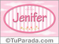 Nombre Jenifer de bebé, para imprimir
