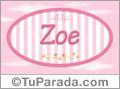 Zoe, nombre para niñas