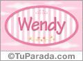 Nombre Wendy de bebé, para imprimir