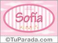 Nombre Sofia de bebé, para imprimir