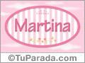 Nombre Martina de bebé, para imprimir