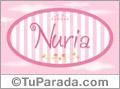 Nombre Nuria de bebé, para imprimir