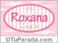 Nombre Roxana de bebé, para imprimir