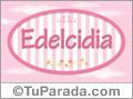 Edelcidia, nombre para niñas
