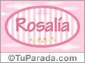 Nombre Rosalía de bebé, para imprimir