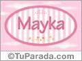 Mayka, nombre para niñas