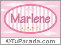 Nombre Marlene de bebé, para imprimir