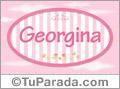 Nombre Georgina de bebé, para imprimir