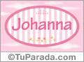 Johanna, nombre para niñas