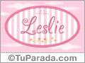 Leslie, nombre para niñas