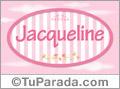 Nombre Jacqueline de bebé, para imprimir