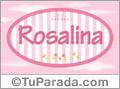 Nombre Rosalina de bebé, para imprimir
