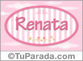 Nombre Renata de bebé, para imprimir