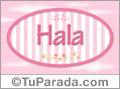 Hala, nombre para niñas