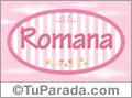 Romana, nombre para niñas