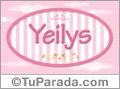 Yeilys, nombre para niñas