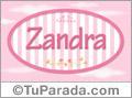 Zandra, nombre para niñas