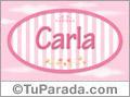 Carla, nombre para niñas