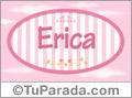 Nombre Erica de bebé, para imprimir