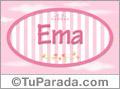 Ema, nombre para niñas