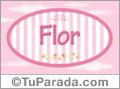 Flor, nombre para niñas