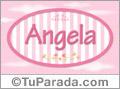 Nombre Angela de bebé, para imprimir