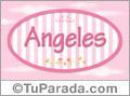 Angeles, nombre para niñas