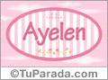 Nombre Ayelen de bebé, para imprimir