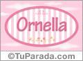 Ornella, nombre para niñas