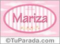 Mariza, nombre para niñas