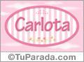 Carlota, nombre para niñas