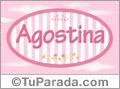 Nombre Agostina de bebé, para imprimir