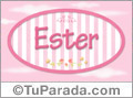 Ester, nombre de niña